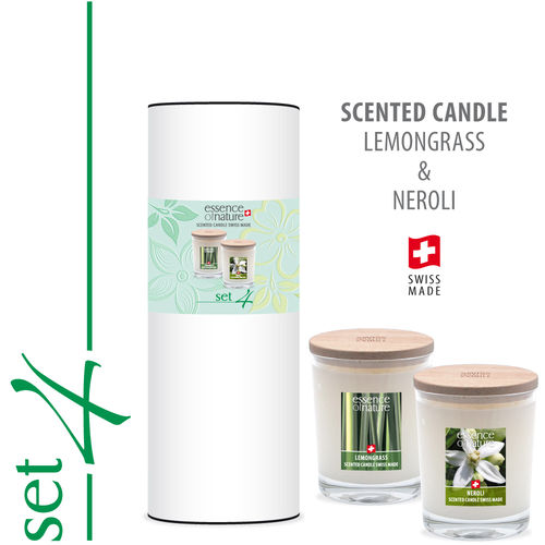 Essence of Nature Premium Scented Candle 180g | Set 4